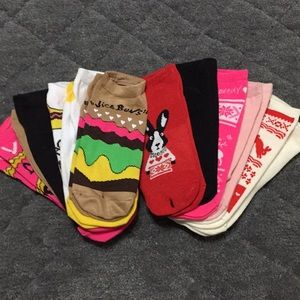 12 pairs of Betsey Johnson socks